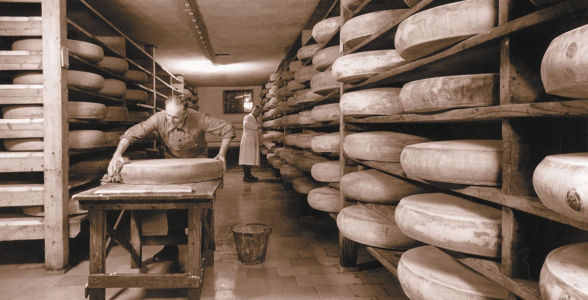 Historisches Lager der Käserei Hochland